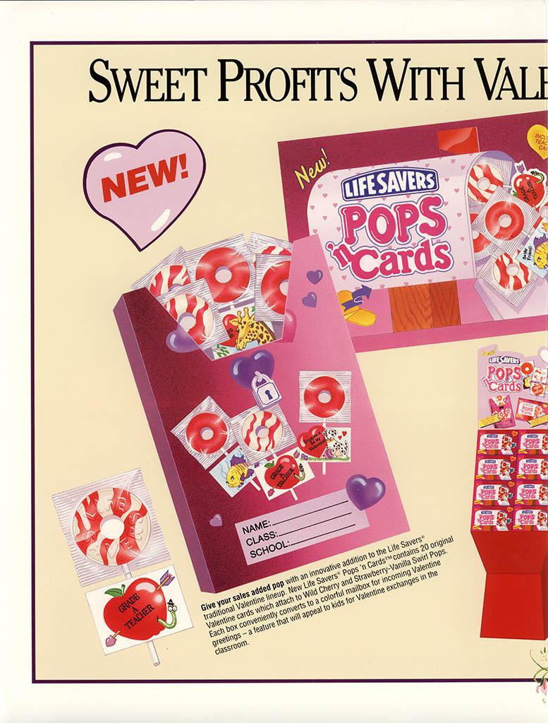 Nabisco Foods - Lifesavers - Valentines Treats 1994 - brochure - center spread pt 1