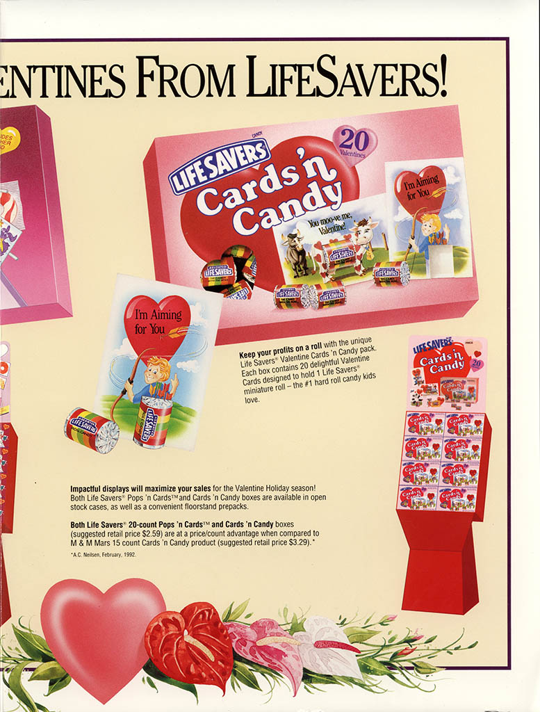 Nabisco Foods - Lifesavers - Valentines Treats 1994 - brochure - center spread pt 2