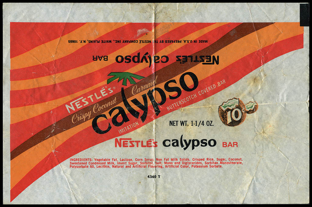 Nestle's - Calypso - 10-cent candy bar wrapper - 1960's