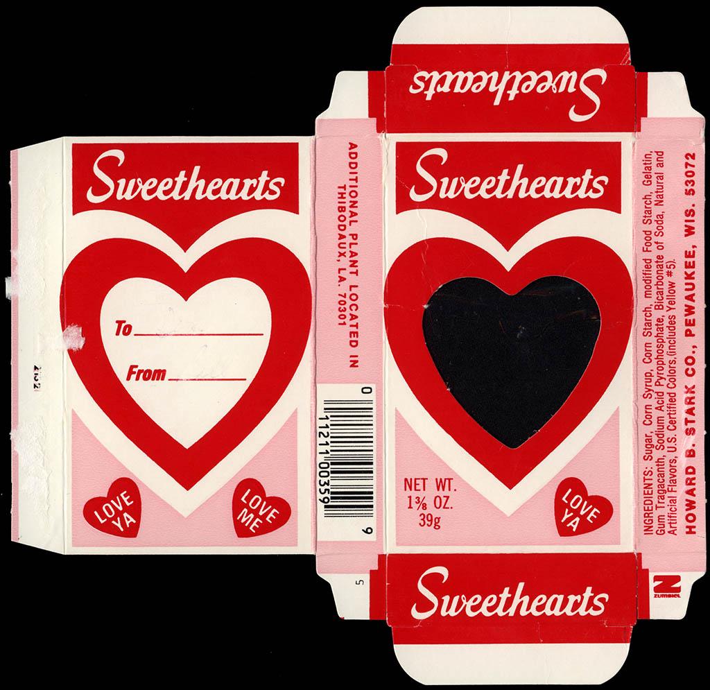 Stark - Sweethearts - Valentine's candy box - circa 1983