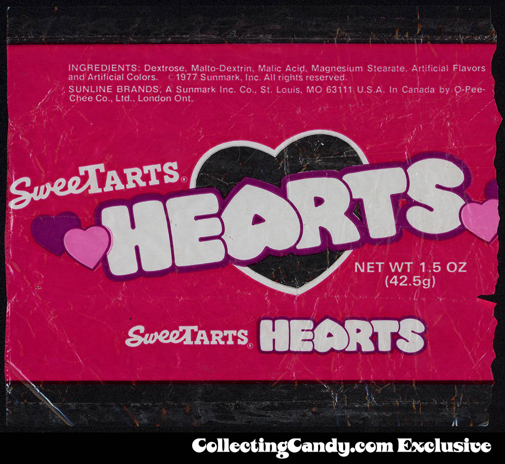 Sunline-Sunmark - Sweetarts Hearts - 1_5 Valentine's cello candy package - 1977