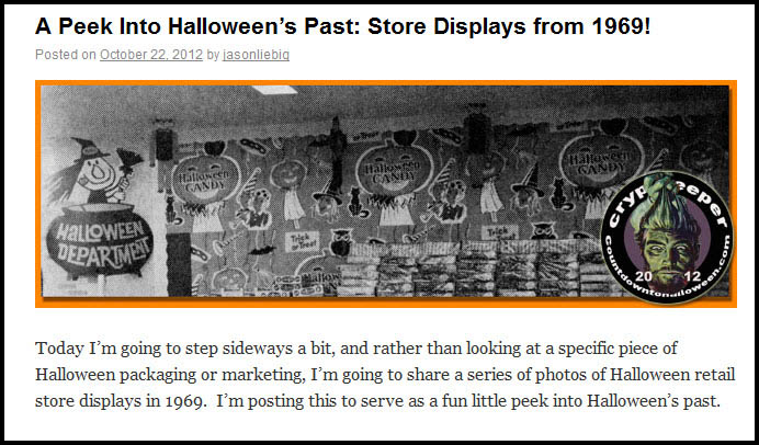 Halloween Store Displays