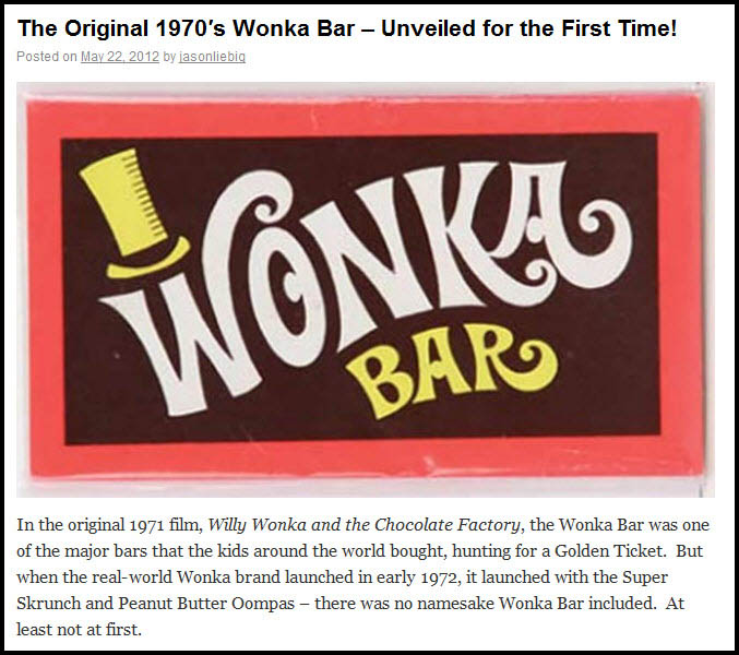 Original Wonka Bar
