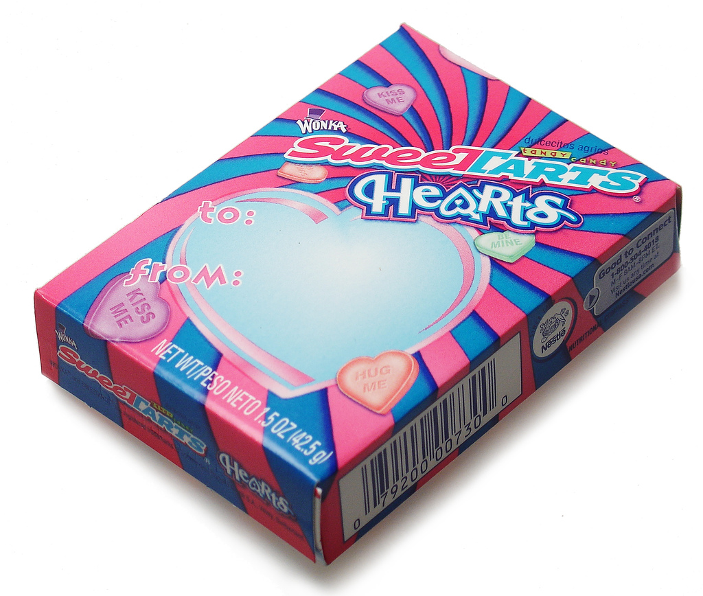 Wonka Sweetart Hearts candy box photo - 2007- Courtesy Candyblog.net