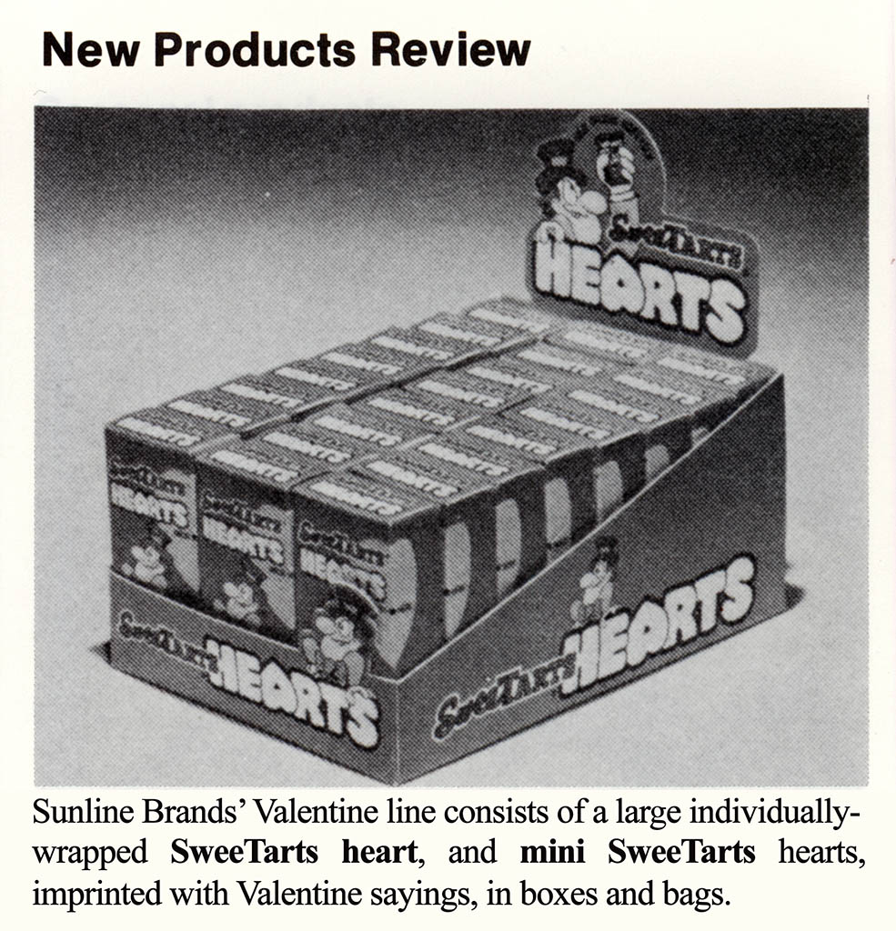 Sunline - Sunmark - Sweetarts Hearts - trade announcement - 1979