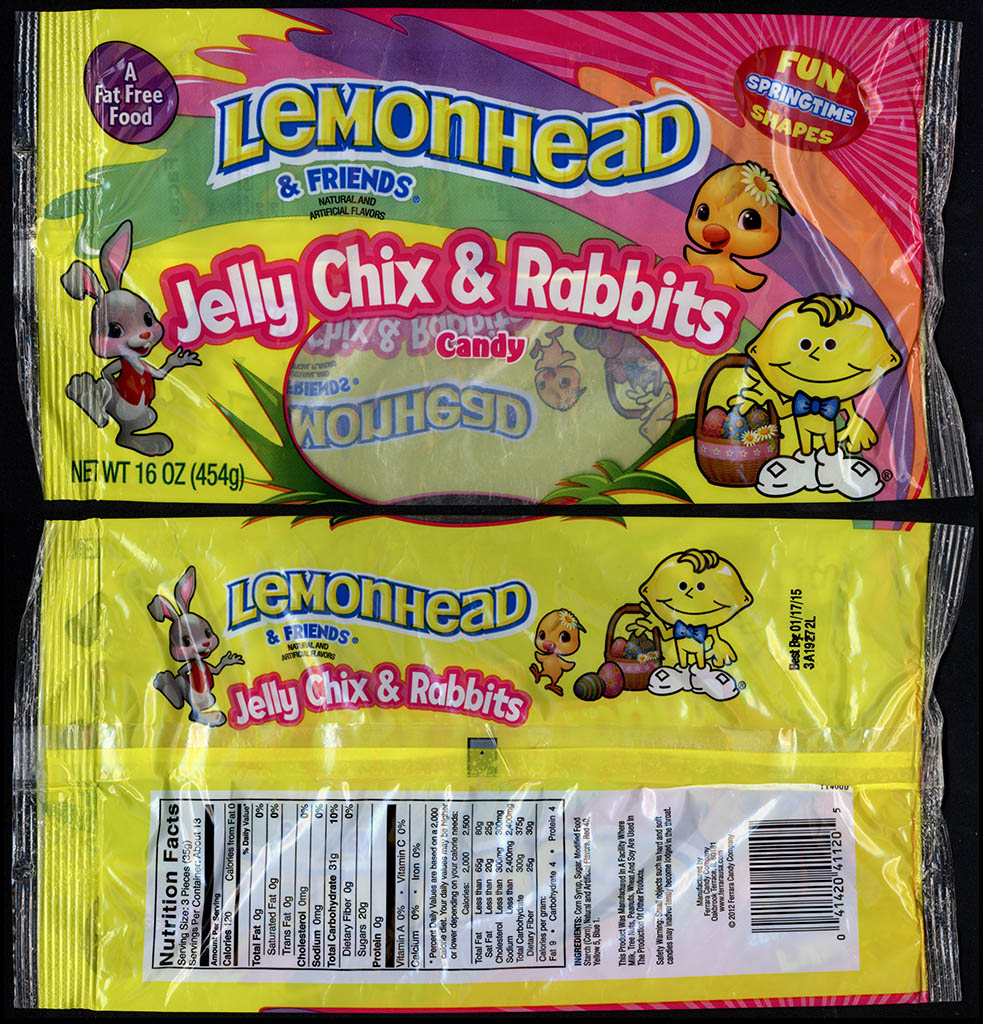 CC_Ferrara Pan - Lemonhead & Friends Jelly Chix & Rabbits - 16oz Easter candy package - 2013