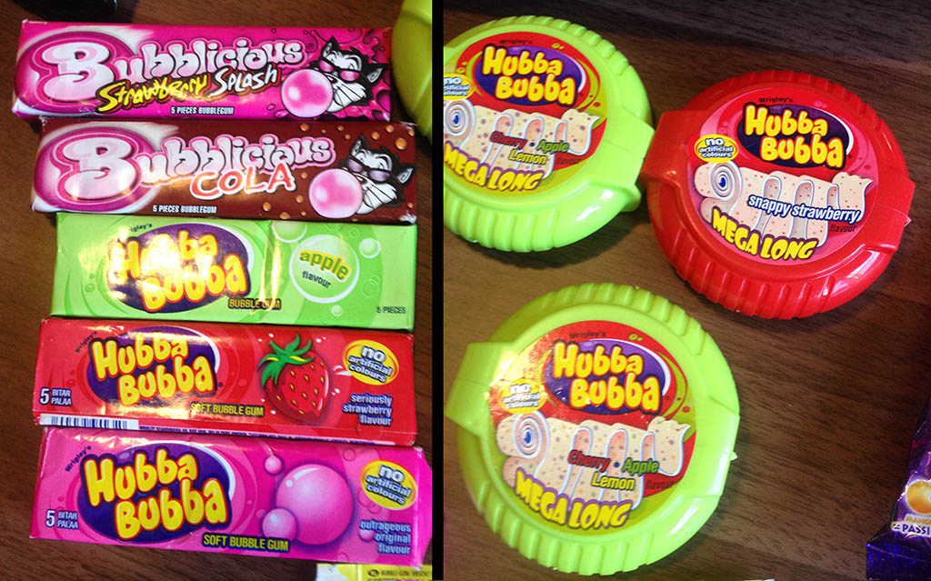 German-European Bubblicious and Hubba Bubba - February 2013