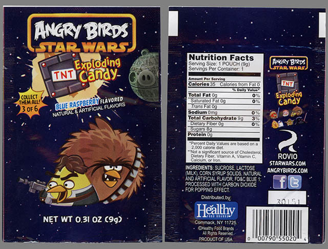 Angry Birds Star Wars Exploding Candy - 3 of 6 - Han & Chewie bird - candy package - February 2013