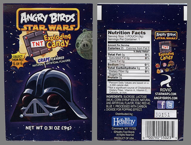 Angry Birds Star Wars Exploding Candy - 6 of 6 - Darth Pig - candy package - February 2013