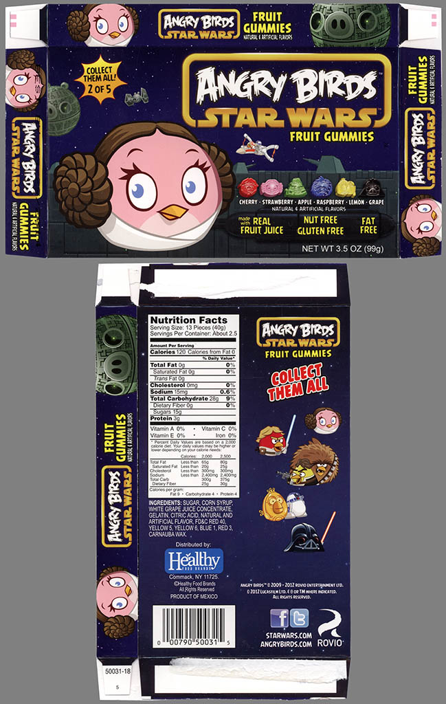 Healthy Food Brands - Angry Birds Star Wars Fruit Gummies - 2 of 5 Leia Bird - candy - 2013