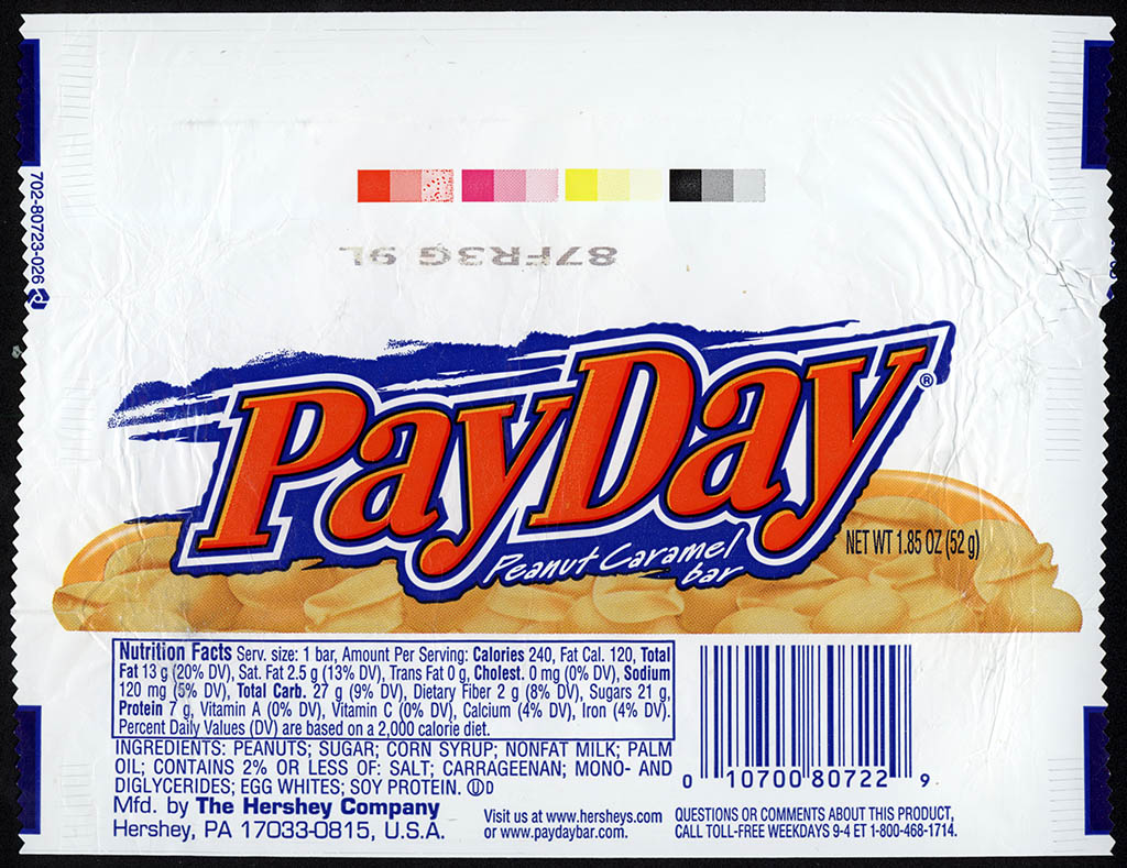 Hershey - Payday - candy bar wrapper - 2011