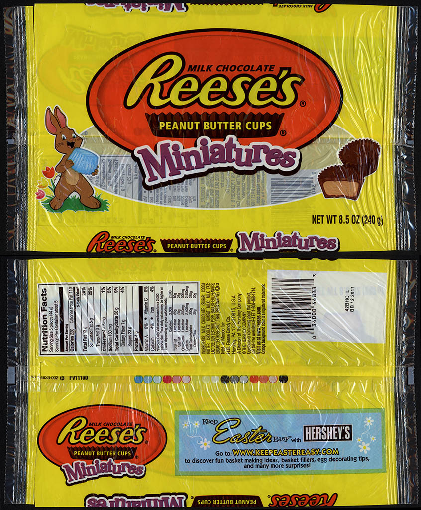 Hershey - Reese's Miniatures - 8_5oz Easter candy package - 2011