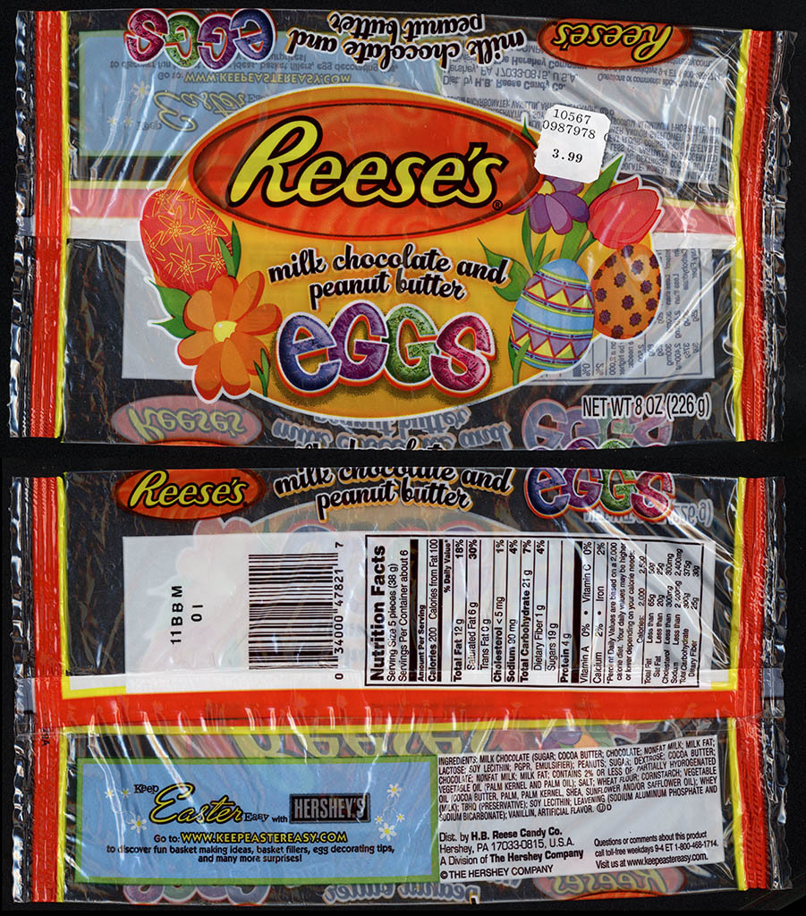 Hershey - Reese's Peanut Butter Eggs - 8oz Easter candy package - 2011