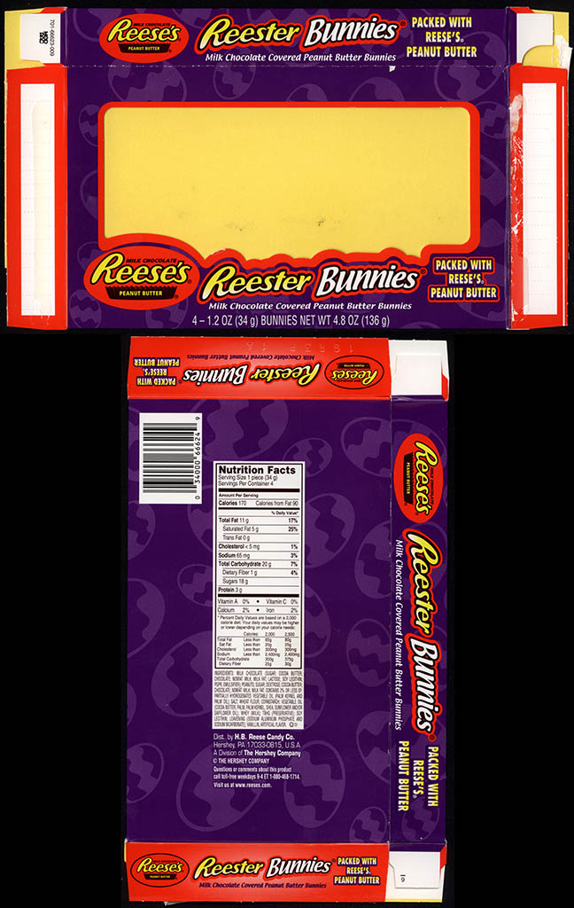 Hershey - Reese's Reester Bunnies - Easter candy box - 2012