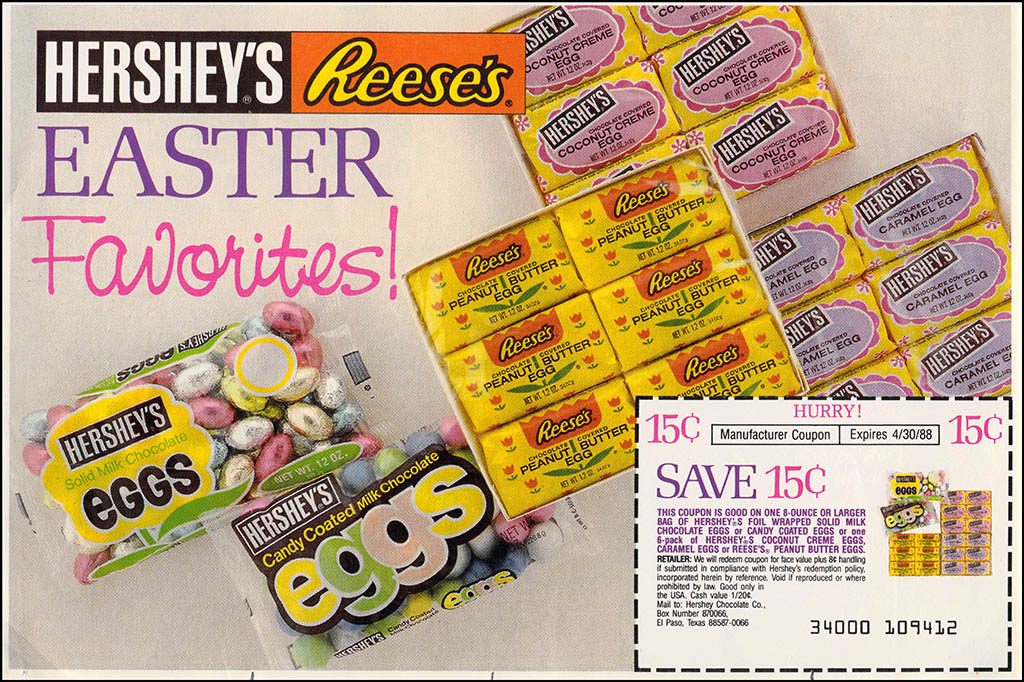 Hershey's - Reese's - Easter Circular ad and coupon - Easter 1988