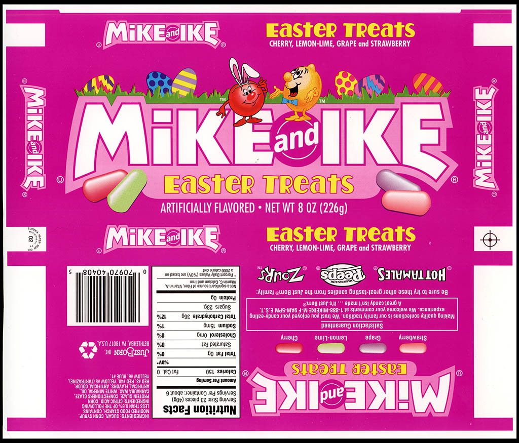 Just Born - Mike and Ike Easter Treats - 8oz candy box - proof - 2003