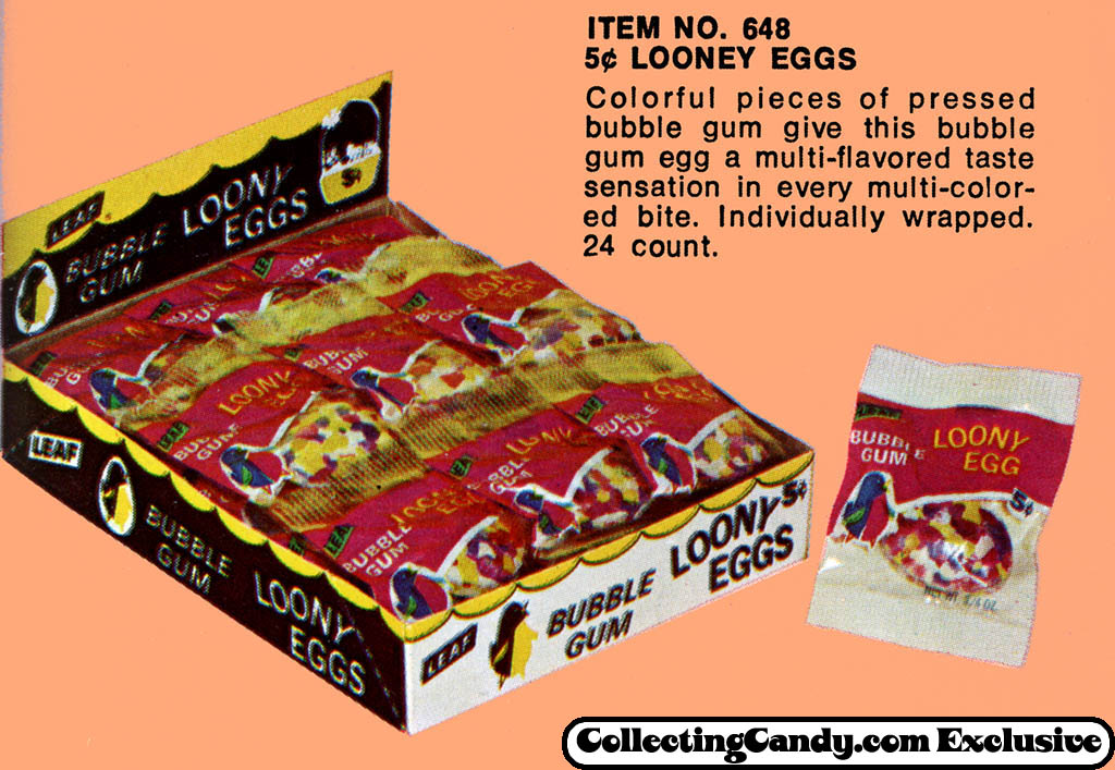 Leaf - 5-cent Loony Eggs - close-up - Easter 1971