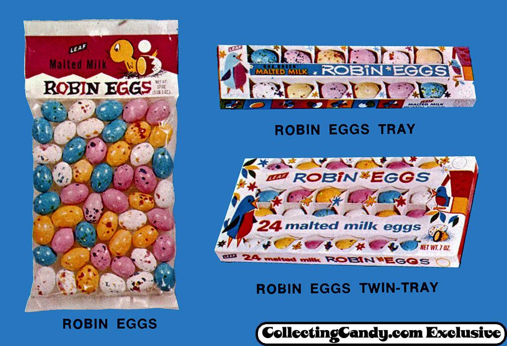Leaf - Robin Eggs - close-up - Easter 1971