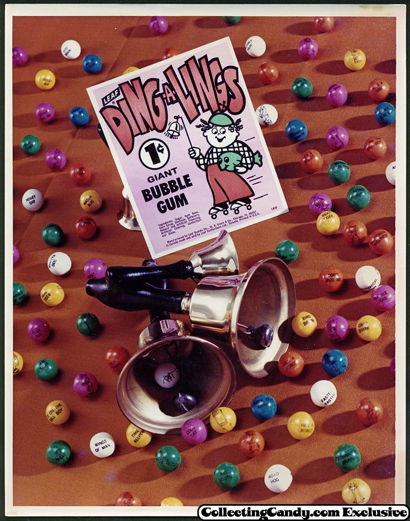 Leaf - vending bubble gum promotional photo - Ding-a-Lings - early 70's