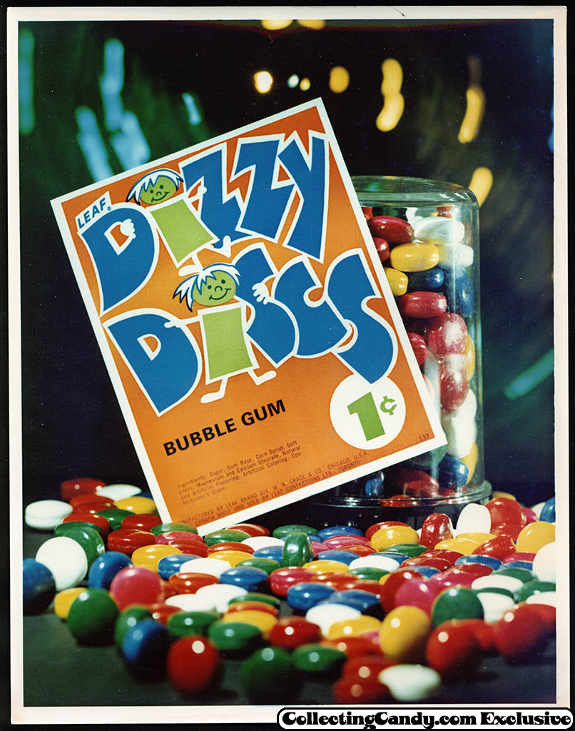 Leaf - vending bubble gum promotional photo - Dizzy Discs - early 70's
