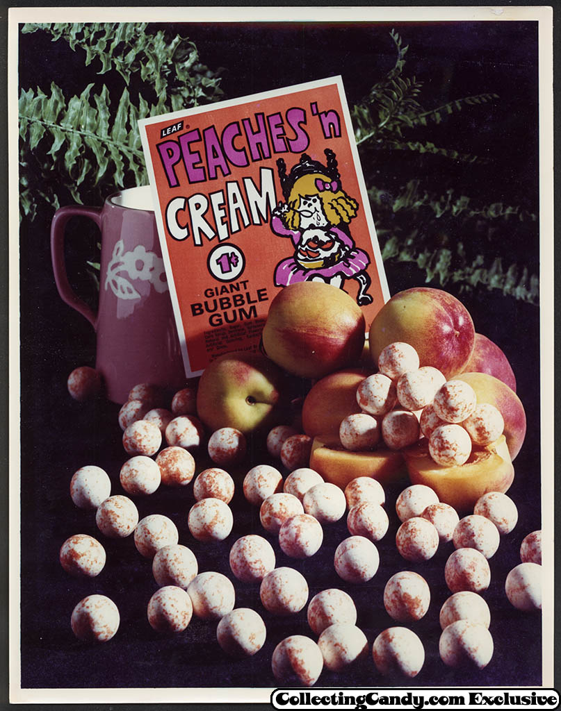 Leaf - vending bubble gum promotional photo - Peaches n Cream - early 70's