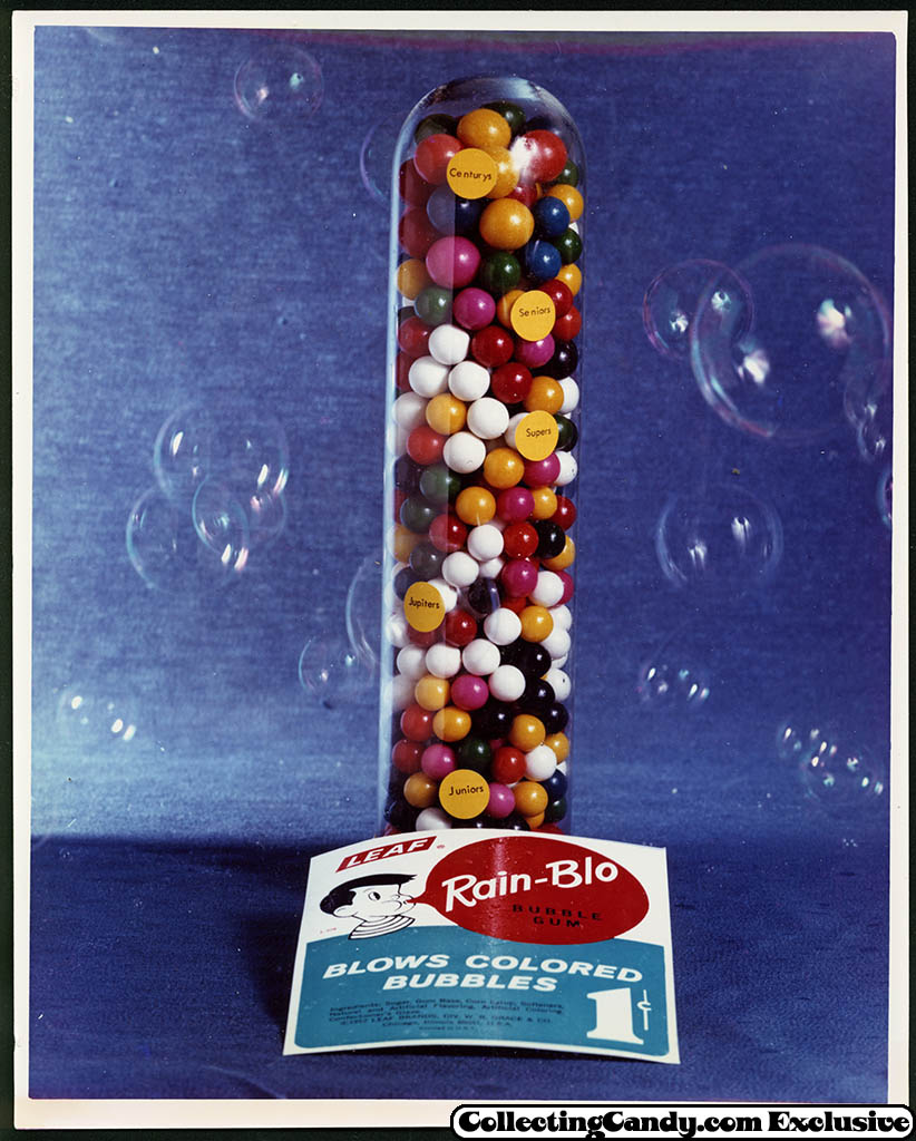 Leaf - vending bubble gum promotional photo - Rain-Blo - early 70's