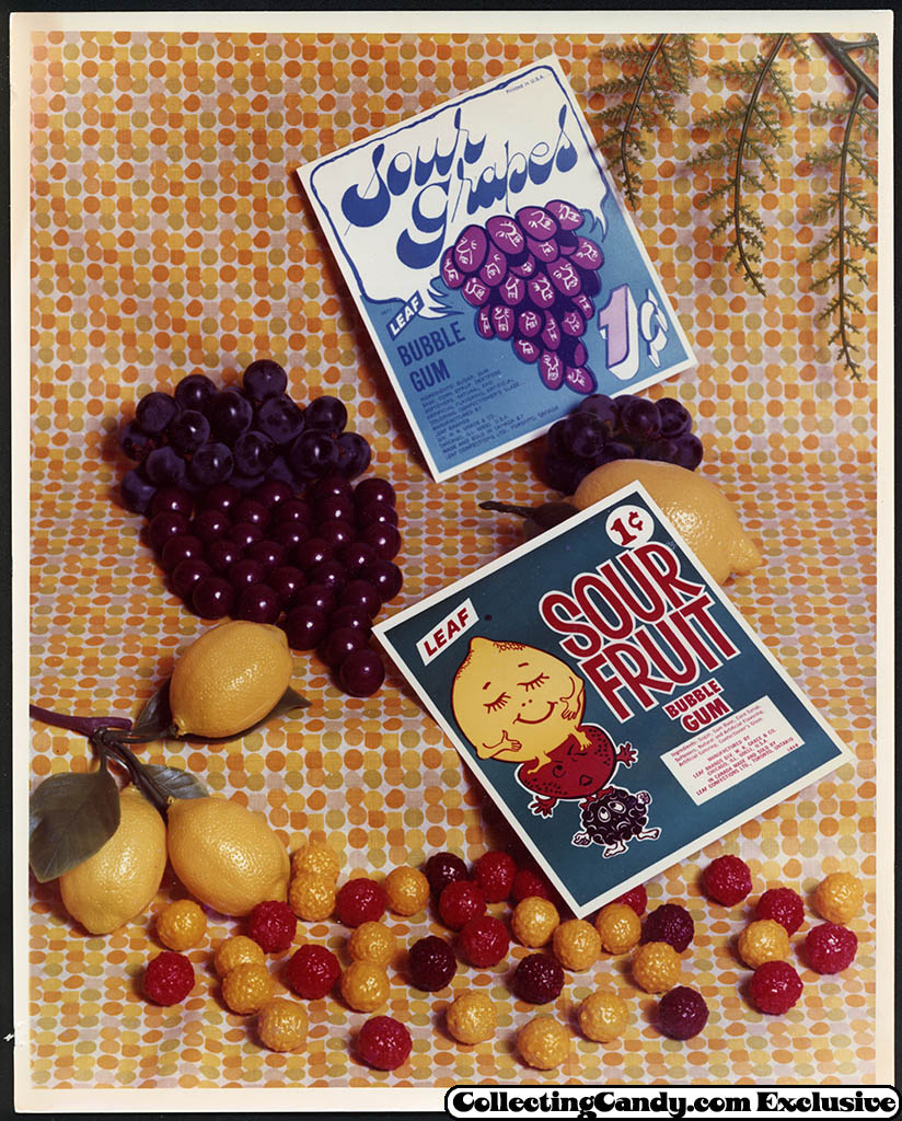 Leaf - vending bubble gum promotional photo - Sour Grapes - Sour Fruit - early 70's