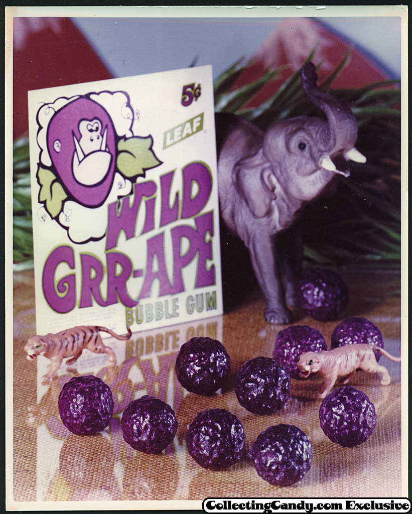 Leaf - vending bubble gum promotional photo - Wild Grr-ape - early 70's
