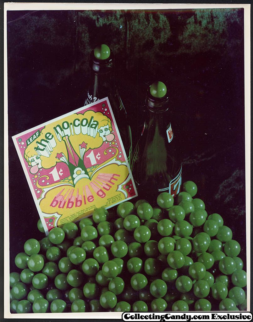 Leaf - vending bubble gum promotional photo - the no-cola - early 70's