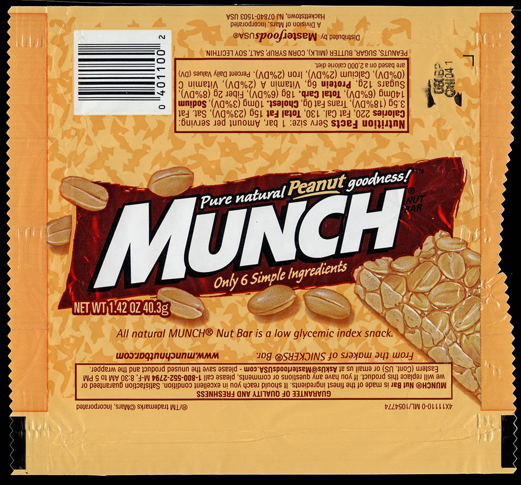 M&M-Mars - Munch bar wrapper - 2005