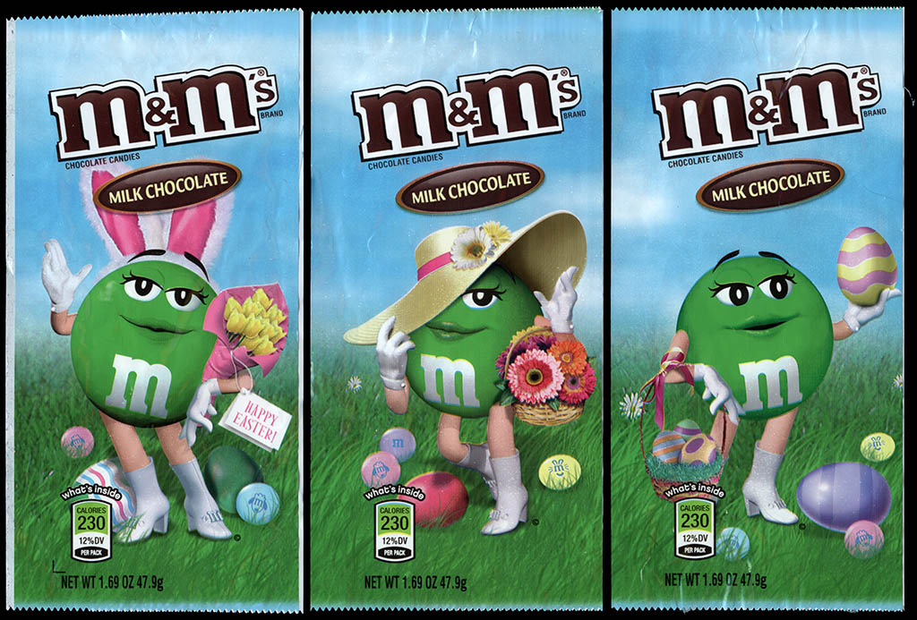 Mars - M&M's Milk Chocolate Easter holiday packs - Green - 2012-2013