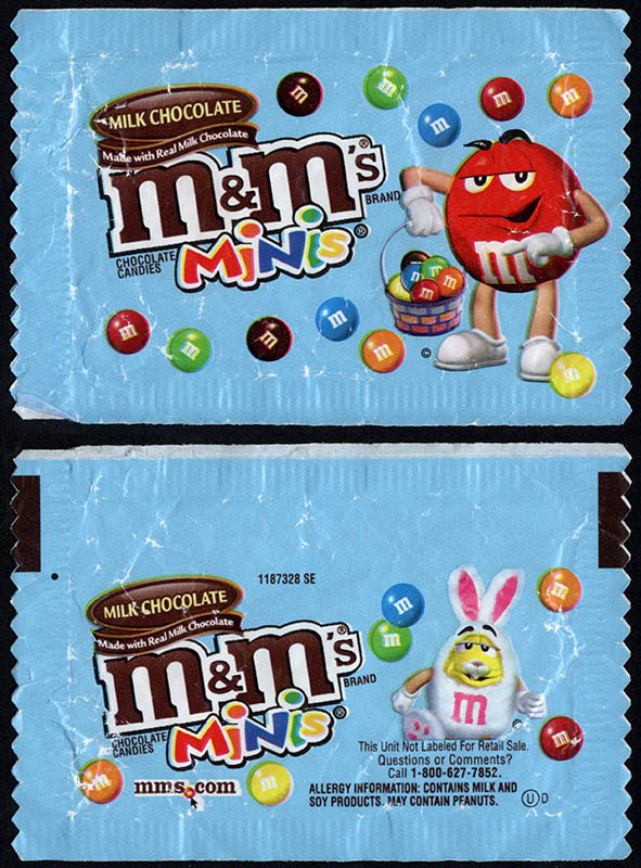 Mars - M&M's Minis Milk Chocolate - Easter Holiday mini-pack - candy package - 2012