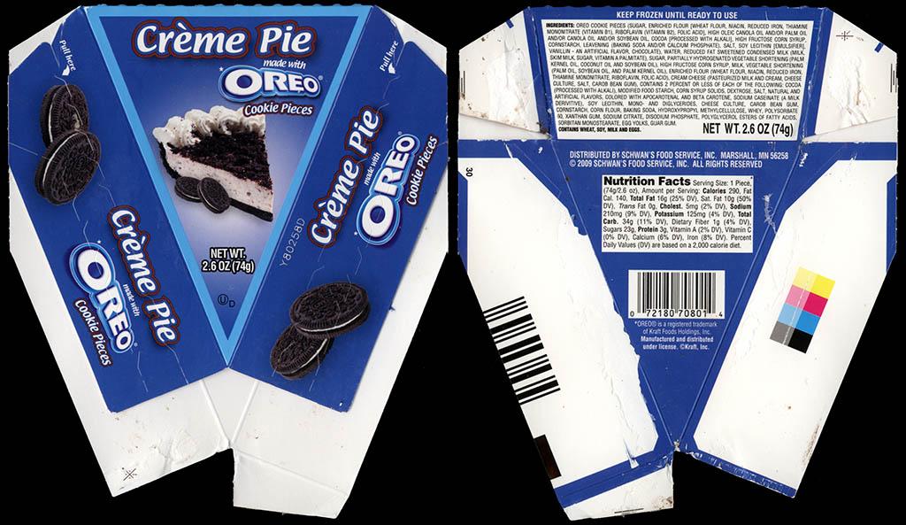 Schwan's Food Company - Oreo Creme Pie - dessert box - 2010