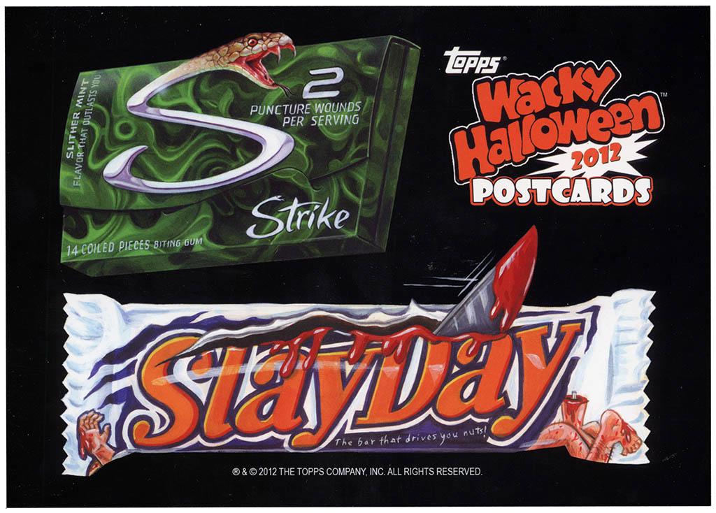 Wacky Packages Postcards Halloween 2012 edition - bonus card - Strike & Slayday