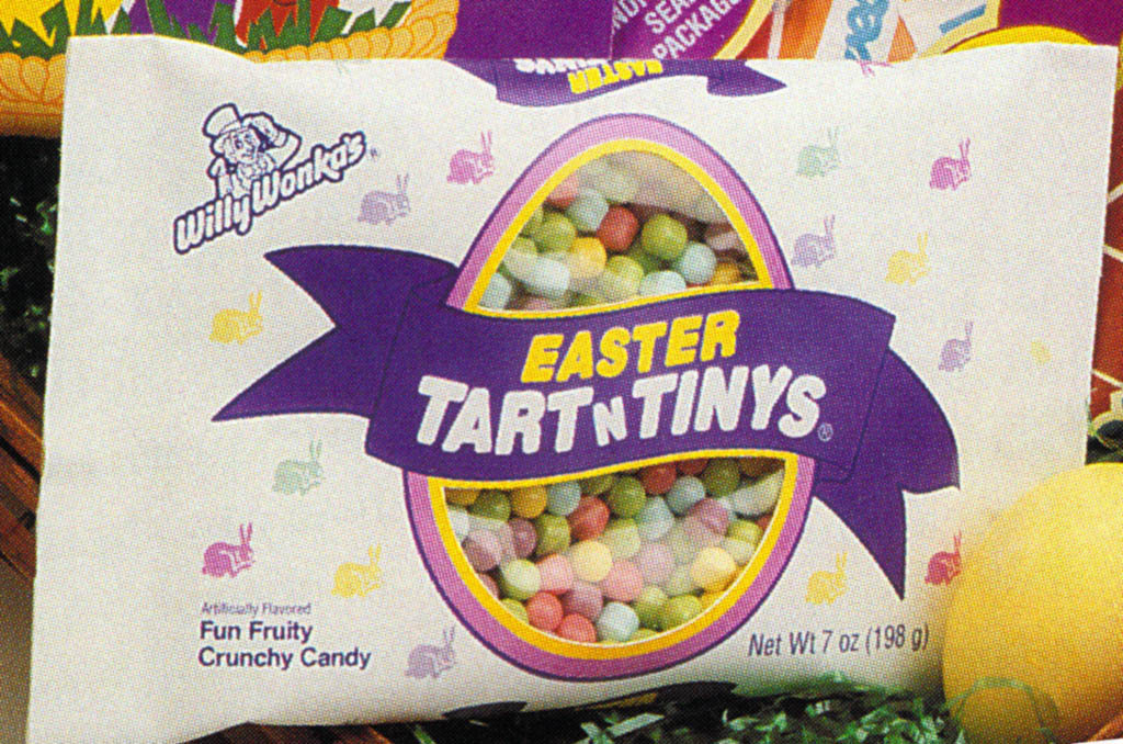 Willy Wonkas Easter Tart N Tinys package for 1996