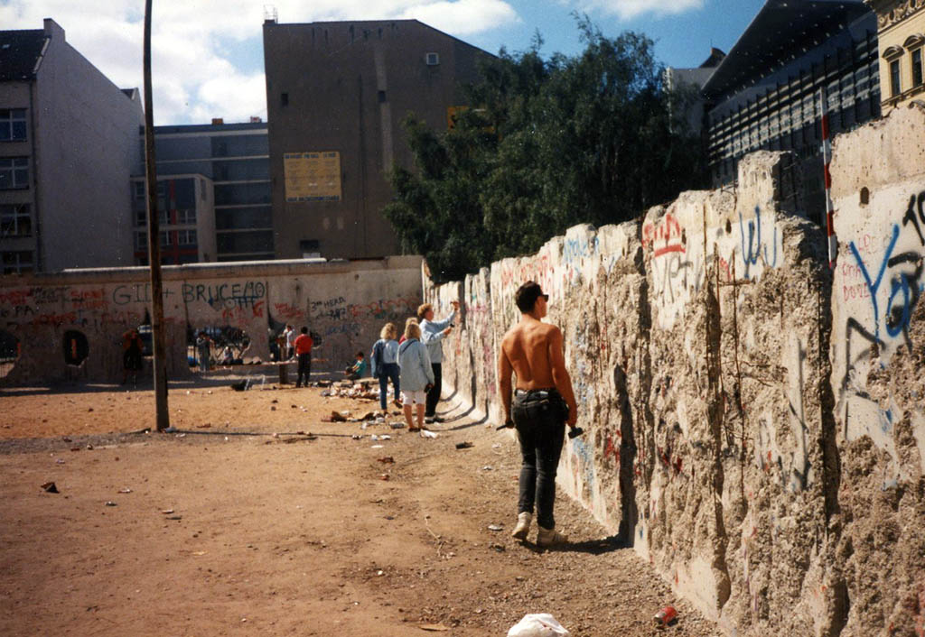 The section of the Berlin Wall we descended upon.