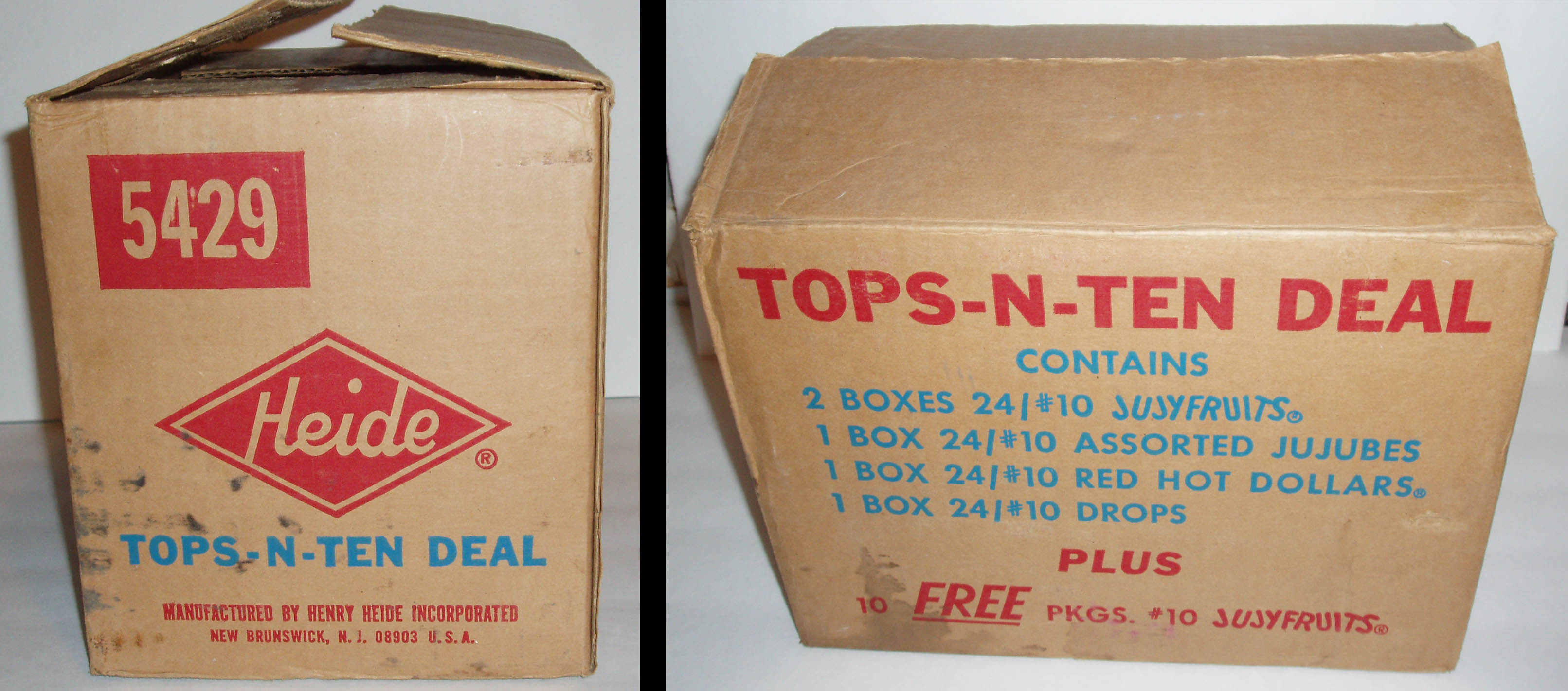 Heide Tops-n-Ten deal shipping box - mid-1970's - image courtesy Dan Goodsell