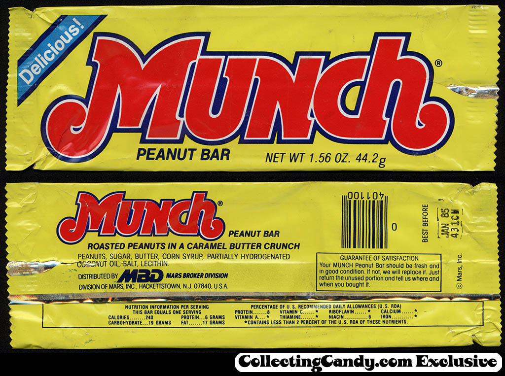Mars - Mars Brokers Division - Munch - Delicious - candy bar wrapper - 198