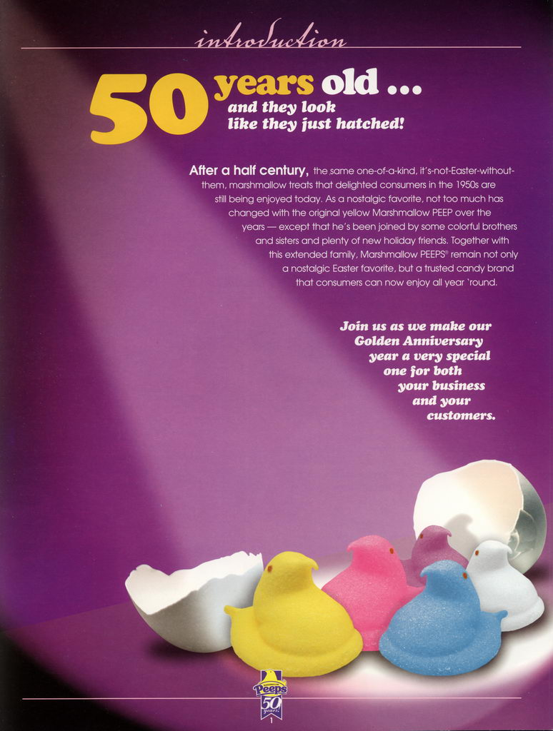 Peeps 50th Anniversary Brochure Page 02