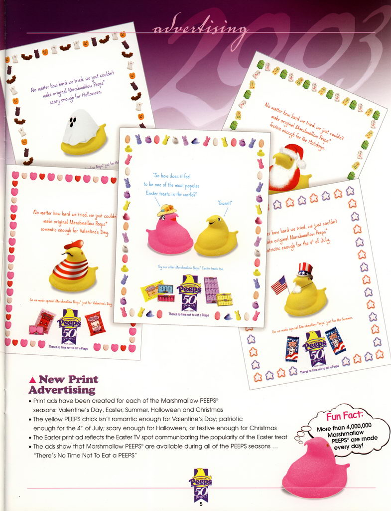 Peeps 50th Anniversary Brochure Page 06