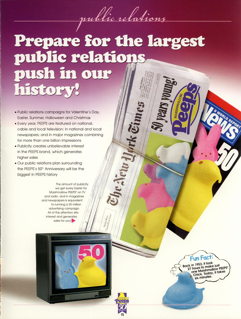 Peeps 50th Anniversary Brochure Page 16
