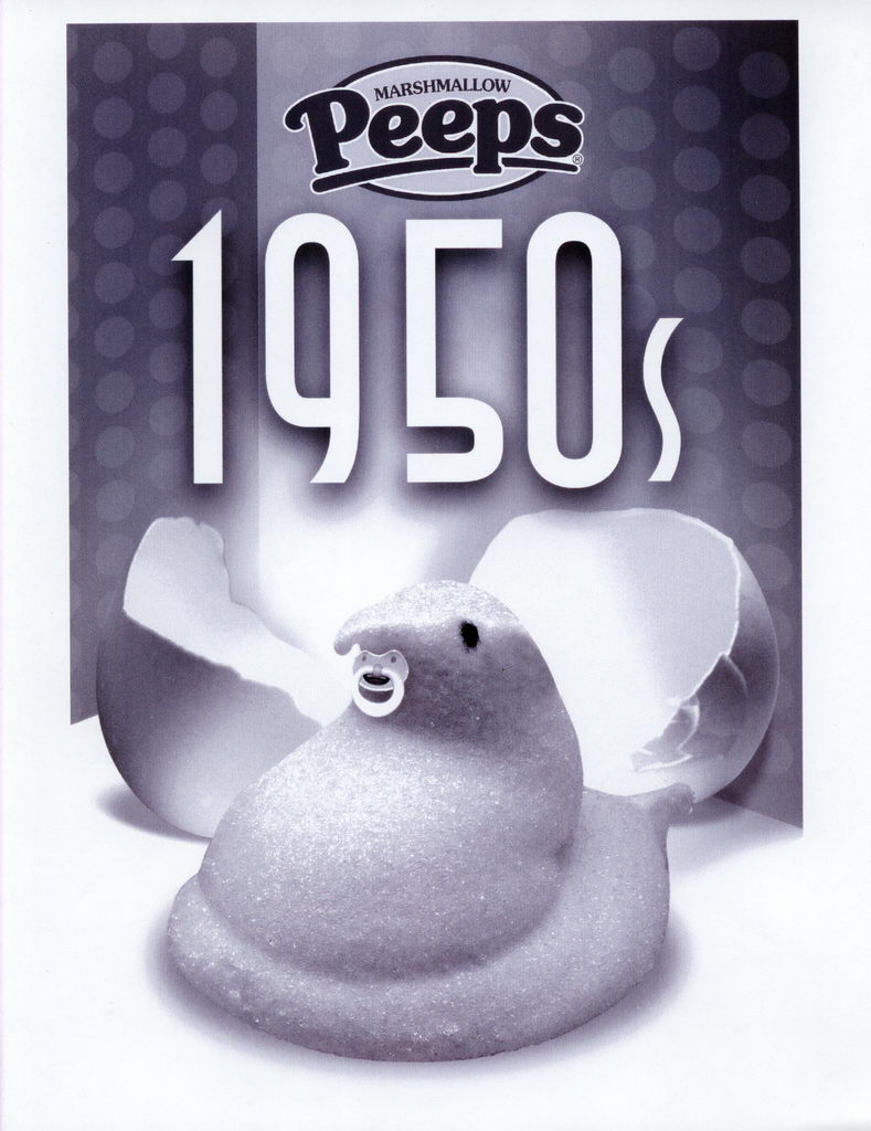 Peeps 50th Anniversary Decades Graphics - 1950's