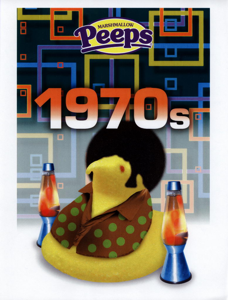 Peeps 50th Anniversary Decades Graphics - 1970's