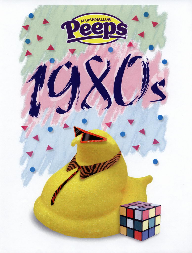 Peeps 50th Anniversary Decades Graphics - 1980's