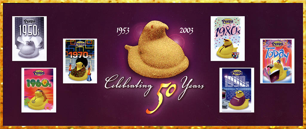 Peeps 50th Anniversary Post TITLE PLATE