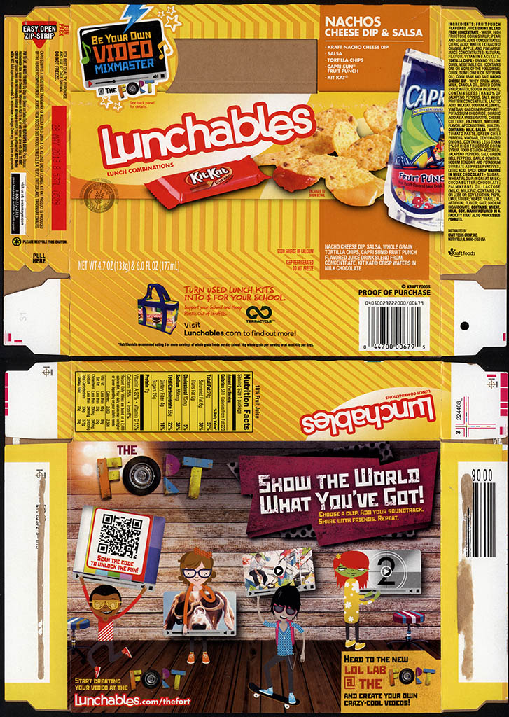 Kraft Foods - Lunchables - Nachos Cheese Dip & Salsa - Kit Kat - package box - 2013