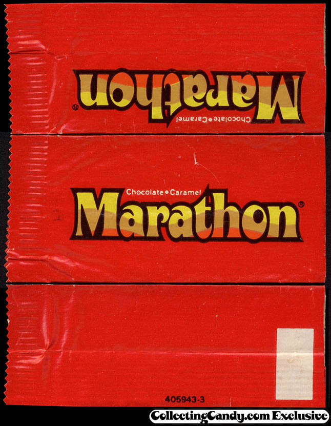Mars - Marathon - Fun-Size - chocolate candy bar wrapper - 1970's