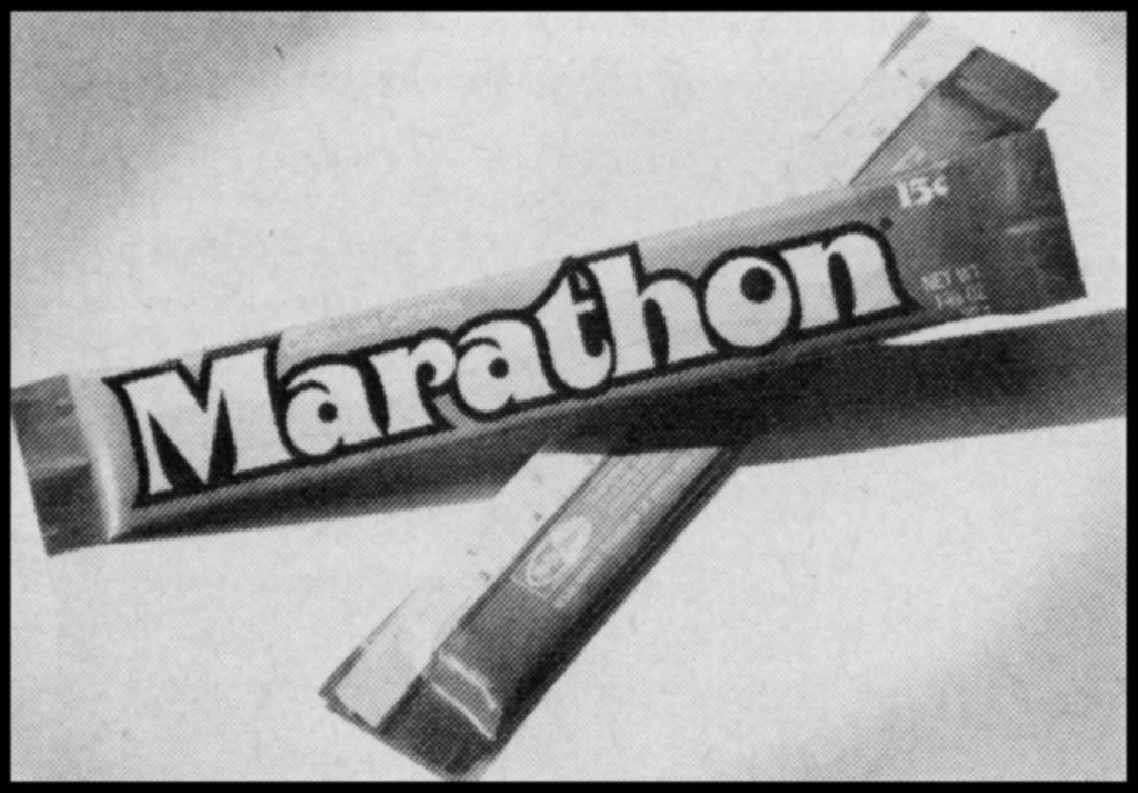 Mars - Marathon - candy trade announcement clipping close-up