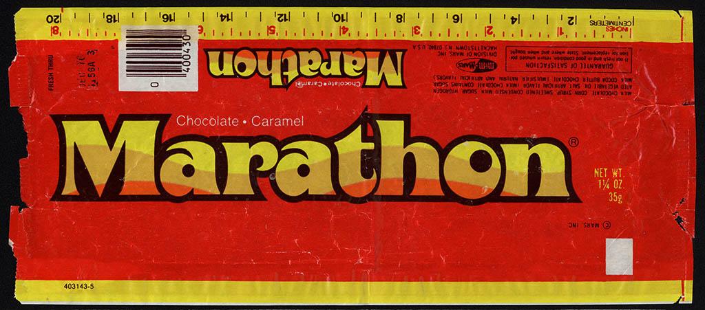 Mars - Marathon - candy wrapper - 1976