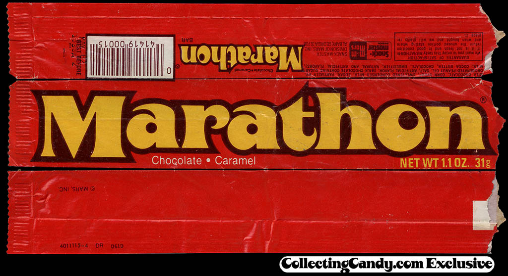 Mars - Marathon - candy wrapper - 1981